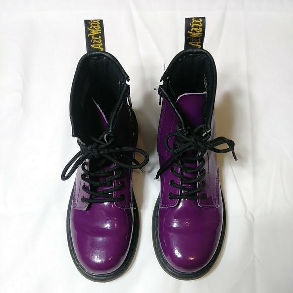 Doc Martens Delaney Boots Purple